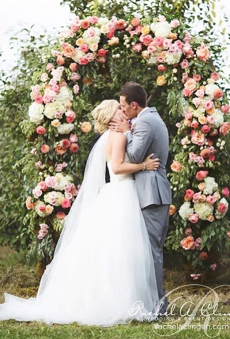 30 Gorgeous Ideas Nude Wedding Photos ❤ nude wedding photos ceremony flower arch rachelaclingen #weddingforward #wedding #bride