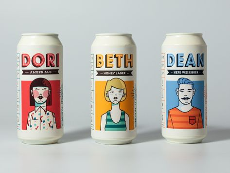Graphic Design Discover Temescal Brewing Temescal Brewing on Packaging of the World - Creative Package Design Gallery Beer Packaging, Food Packaging Design, Beverage Packaging, Packaging Design Inspiration, Brand Packaging, Branding Design, Logo Design, Design Design, Packaging Ideas