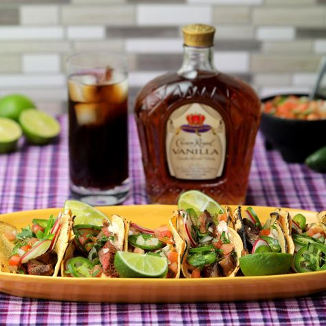 Kickoff the summer with these delicious steak tacos, paired perfectly with the subtle sweetness of Crown Royal Vanilla!