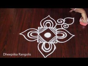 Simple Freehand Rangoli Design Without Dots Latest Kolam Designs