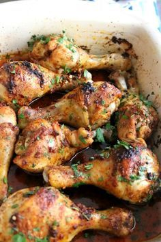 Simple Baked Chicken Leg Drumsticks Recipe Food Easy Baked Chicken Baked Chicken Drumsticks Baked Chicken Legs