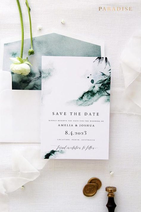 Joselyn Watercolour Save the Date Cards Printable Save the Date