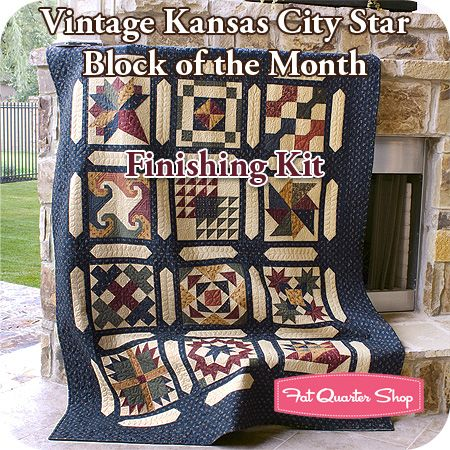 Kansas City Start BOM - Kansas Troubles Quilters, Cattails & Clover