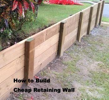This Is How Build Cheap Retaining Wall Walled Garden Dinding Penahan Pertamanan Belakang Rumah