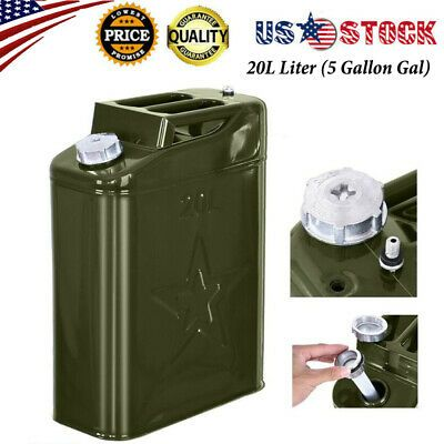 Jerry Can 5 Gallon Gal 20l Liter Backup Steel Tank Fuel Gas Gasoline Green Us Ebay In 2020 Jerry Can Fuel Gas Gallon