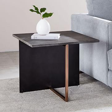 Korsa Oak Amp Copper Side Table Copper Side Table Black Side