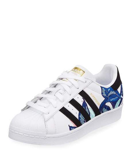 Superstar Embroidered Sneakers | Adidas superstar, Adidas ...
