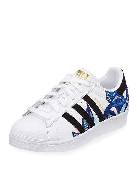 Incorrecto honor Mártir  Adidas Superstar Embroidered Sneakers | Adidas superstar, Adidas superstar  women, Adidas shoes superstar