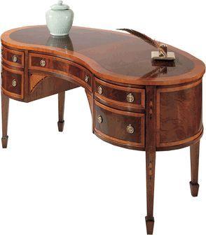 Hekman Kidney Shaped Desk Sold Kidney Shaped Desk Hekman