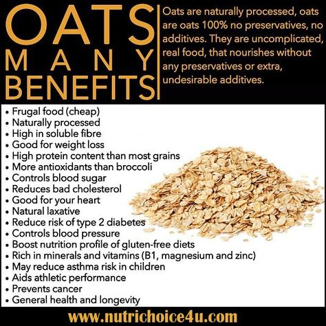 The Health Benefits of Oats