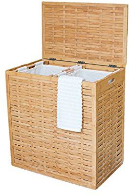 Amazon Com Birdrock Home Oversized Divided Clothes Laundry Hamper