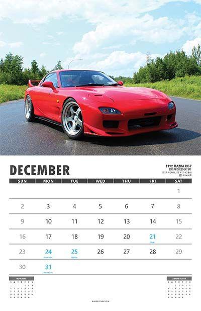 December Car Calendar Wall Calendars Pinterest - Sports cars calendar 2018