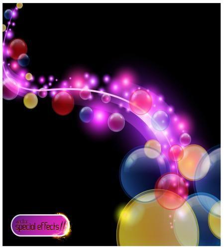 تصميم فقاعات دائرية ملونة خلفية مميزة ملف مفتوح Vector Free Vector Illustration Abstract Backgrounds