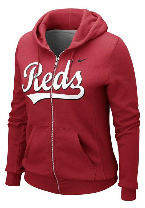 Cincinnati Reds Women's Red Classic Full Zip Hoody by Nike $70.00