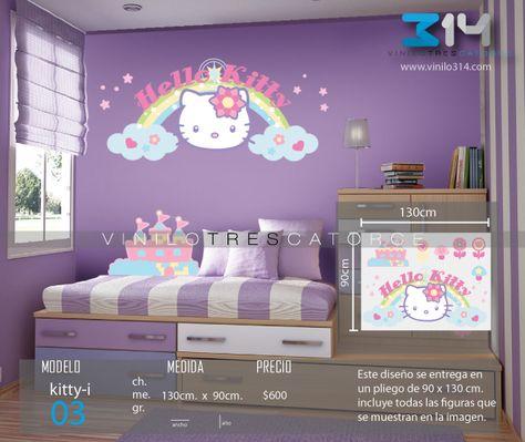 Vinilos Hello Kitty Pared.Vinilo 3 14 Vinilos Decorativos Infantiles Hello Kitty