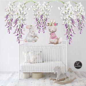 Zajaczek Kroliczek I Kwiaty Wisterii Xxl Baby Mobile Kids Room Baby Room