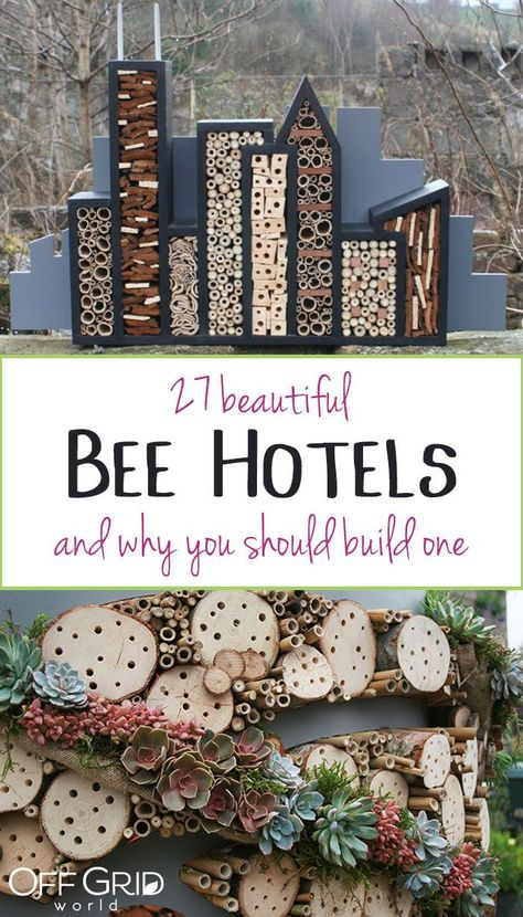27 Incredibly beautiful bee hotels (and why you should build one) - Off Gr . - 27 Incredibly beautiful bee hotels (and why you should build one) – Off Gr … Source by kingneaces - Garden Crafts, Garden Art, Herb Garden Design, Diy Crafts, Easy Garden, Garden Beds, Outdoor Projects, Diy Projects, Backyard Projects