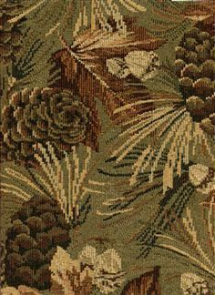 Lodge Style Upholstery Fabric Pinecone Black