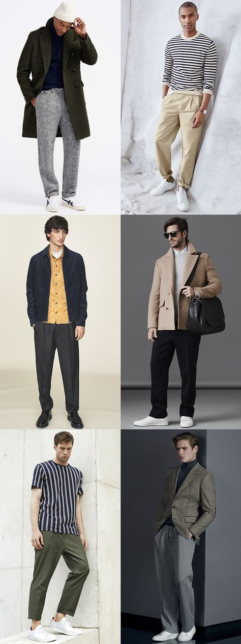 Men's Autumn/Winter 2016 Wide-Leg Trousers and Chinos Outfit Inspiration Lookbook