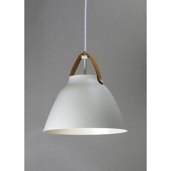 Maxim Lighting Nordic Tan Leather White Transitional Dome Pendant Light Lowes Com In 2020 Dome Pendant Lighting Scandinavian Pendant Lighting Ceiling Lights Uk