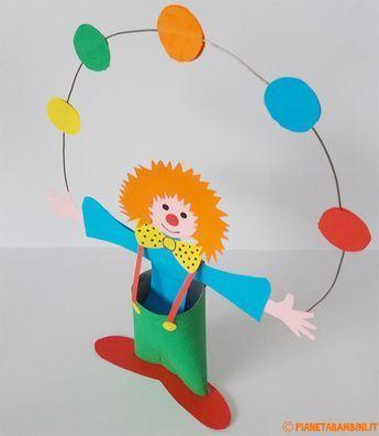 Lavoretti di Carnevale: il Pagliaccio Giocoliere di Cartoncino - #Carnevale: #Cartoncino #di #Giocoliere #il #Lavoretti #Pagliaccio