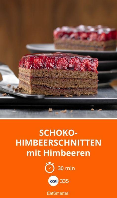 Schoko Himbeerschnitten Rezept Himbeerschnitte Schoko Himbeer Kuchen Himbeeren