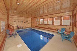 Indoor Pool In A Smoky Mountain Cabin Luxury Cabin Rental Cabin Rentals Hot Tub Outdoor