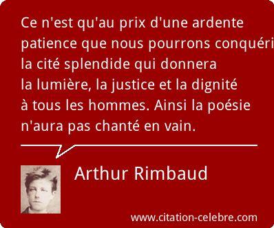 Arthur Rimbaud Citation