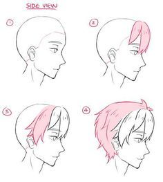Bilderesultat For Boy Side View Anime Anime Drawings Tutorials Drawing Tutorial Cartoon Drawings