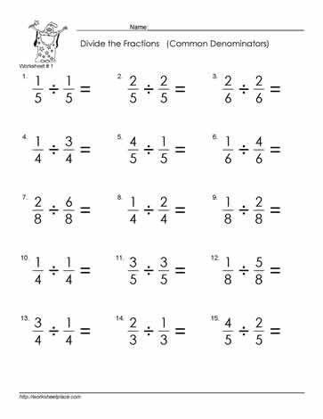 Pin On Mentoring 5th grade dividing fractions worksheets