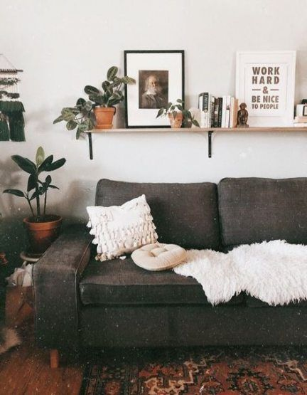 Wall Shelf Behind Couch Inspiration 56 Ideas For 2019 Wall Shelves Above Couch Above Couch Decor Couch Decor