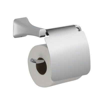 Delta Tesla Wall Mounted Toilet Paper Holder With Removable Cover