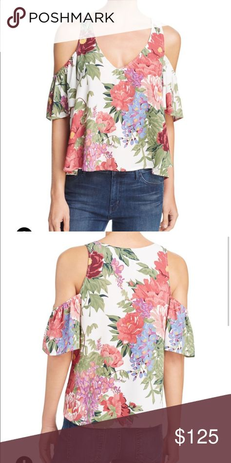 55c6a5140970b9 Show me your mumu hazel cold shoulder top NWT show me your mumu hazel cold  shoulder top in duchess darling print. It s brand new with tag. Never been  worn.