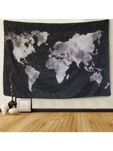 World Map Tapestry Black And White : world, tapestry, black, white, World, Tapestry, Black, White, Abstract, Painting, Hanging, Decor, Living, Bedroom, Architect,, Tapestry,