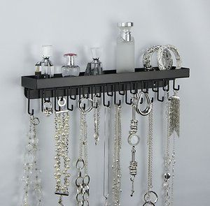 Wall Necklace Holder Jewelry Organizer Perfume Tray Closet Storage