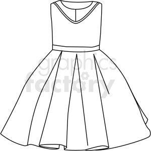 Black White Small Dress Vector Clipart Dress Vector Small Dress Vector Clipart