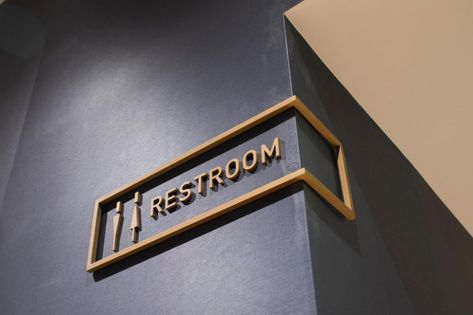 Bathroom signs male female toilets 37 great ideasBathroom signs male female toilets 37 Super Ideas bathThis badge for men / women is made of high quality birch plywood.This badge for men / women is made Hotel Signage, Wayfinding Signage, Signage Design, Cafe Design, Store Design, Retail Signage, Booth Design, Design Design, Toilet Signage