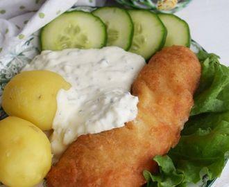 fisk med potatis och sås