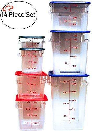 New Tiger Chef Food Storage Containers With Lids 14 Piece Plastic Container Set For Pantry Storage Comme In 2020 Food Storage Containers Food Storage Pantry Storage