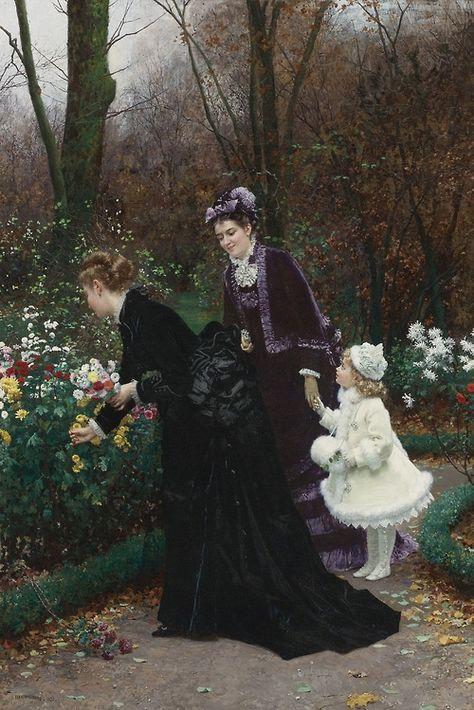 Le Jardin De La Marraine Marie Francois Firmin Girard 1875