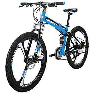 "26/"" Folding Mountain Bike Full Suspension bikes 21 Speed School Bicycle MTB"