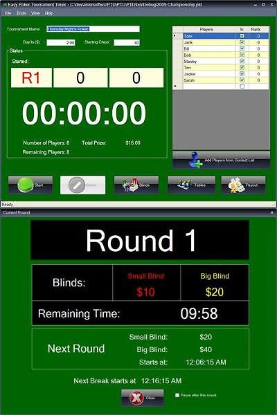 Other Card Games and Poker 2552: Easy Poker Tournament Timer