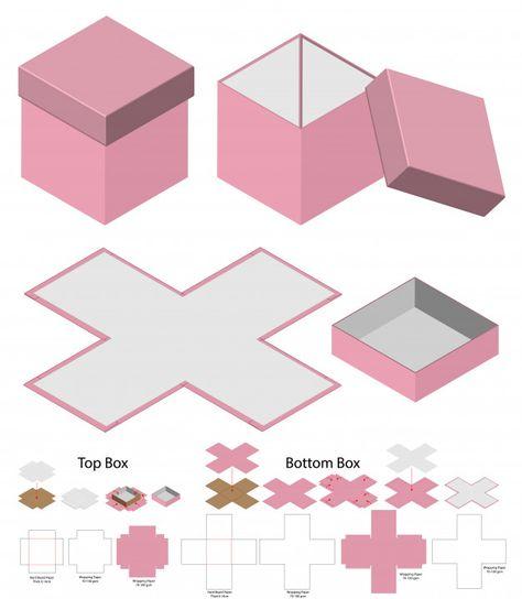 boxes box die cut box mock up box mockup Vectors, Photos and PSD files Diy Crafts Hacks, Diy Crafts For Gifts, Cardboard Crafts, Paper Crafts, Diy Gift Box Template, Paper Box Template, Mom Birthday Gift, Diy Box, Box Packaging