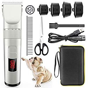 Avaspot Dog Clippers Professional Cordless Electric Dog Grooming Kit Low Noise Pet Clippers Rechargeable Dog Cat Shaver Hair Trimmer For Thin Coats Small Dog In 2020 Dog Clippers Dog Grooming Dog