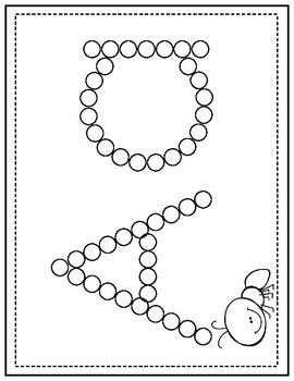 Q-Tip Letter Painting maternelle Q-Tip Letter Painting