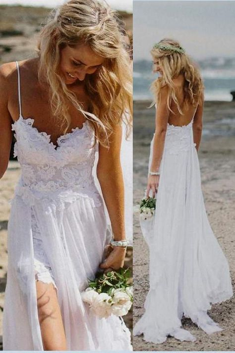 Cheap Wedding Dresses, Backless Party Dress, Lace White Wedding Dresses, White Wedding Dresses, Lace Wedding Dresses #CheapWeddingDresses #BacklessPartyDress #LaceWhiteWeddingDresses #WhiteWeddingDresses #LaceWeddingDresses Prom Dresses 2019