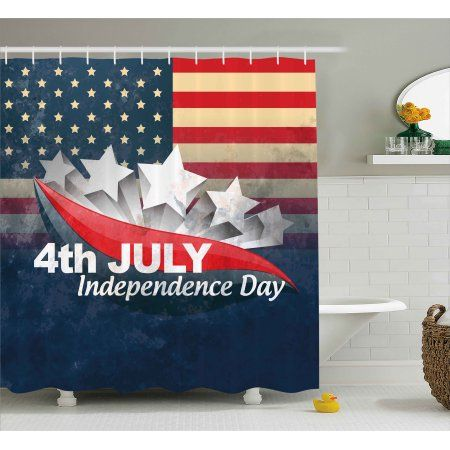 4th Of July Shower Curtain American Soldiers Standing With Us