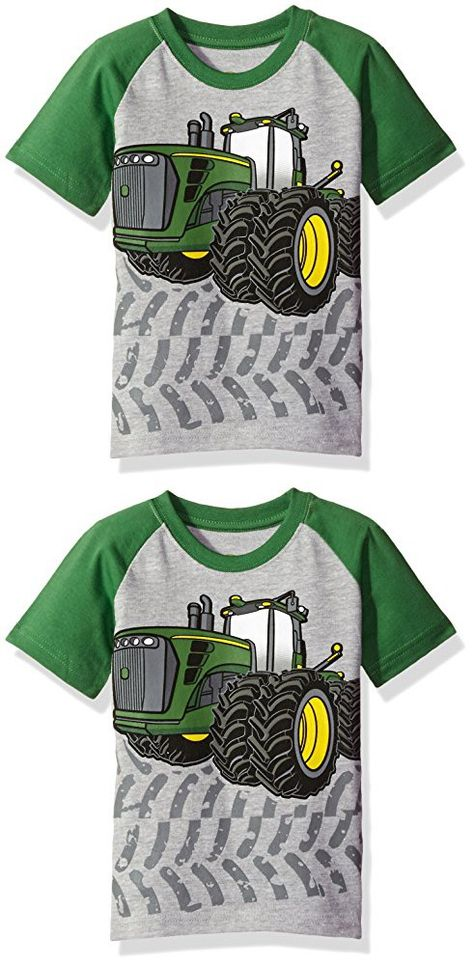 faa6d0581 John Deere Toddler Boys' Graphic Tee, Heather Grey/Green, 4T | BEBES ...