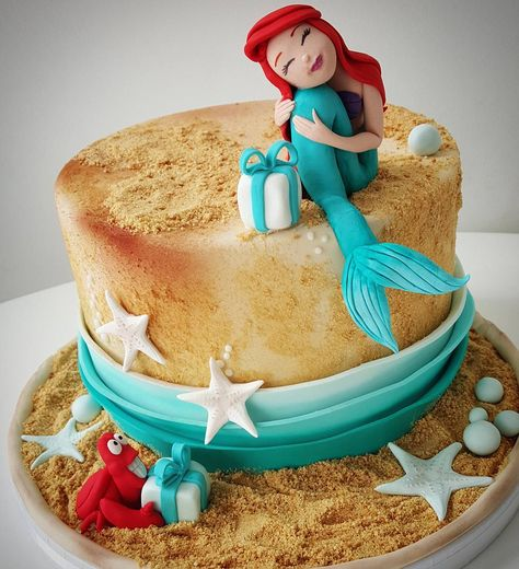 🐚🐚🐚🐚🐚🐚 #littlemermaidcake #littlemermaid #girlbirthdaycake #cakeforgirl #cakeforprincess #vanilicanovisad