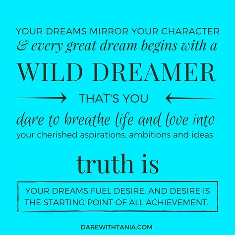 DARE HABIT #2 - Dream of Amazing Fantasise. Imagine. Envison. Then combine the magic of your dreams with the determination of your actions. http://bit.ly/dare-habit-2